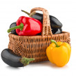 Fresh vegetables in basket — Stock Photo #7265547