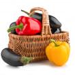 Fresh vegetables in basket — Stock Photo #7265547