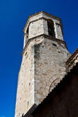 The old tower in the medieval town of Besalu, Catalonia, Spain — Stock Photo