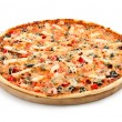 Stock Photo: Pizza with seafood