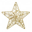 Gold five pointed star christmas decoration — Stock Photo #7758186