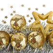 Christmas composition with balls and stars — Stock Photo #7825983
