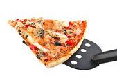Cut off slice pizza — Stock Photo