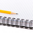 Pencil and notebook. — Foto de Stock