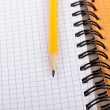 Pencil and notebook. — 图库照片