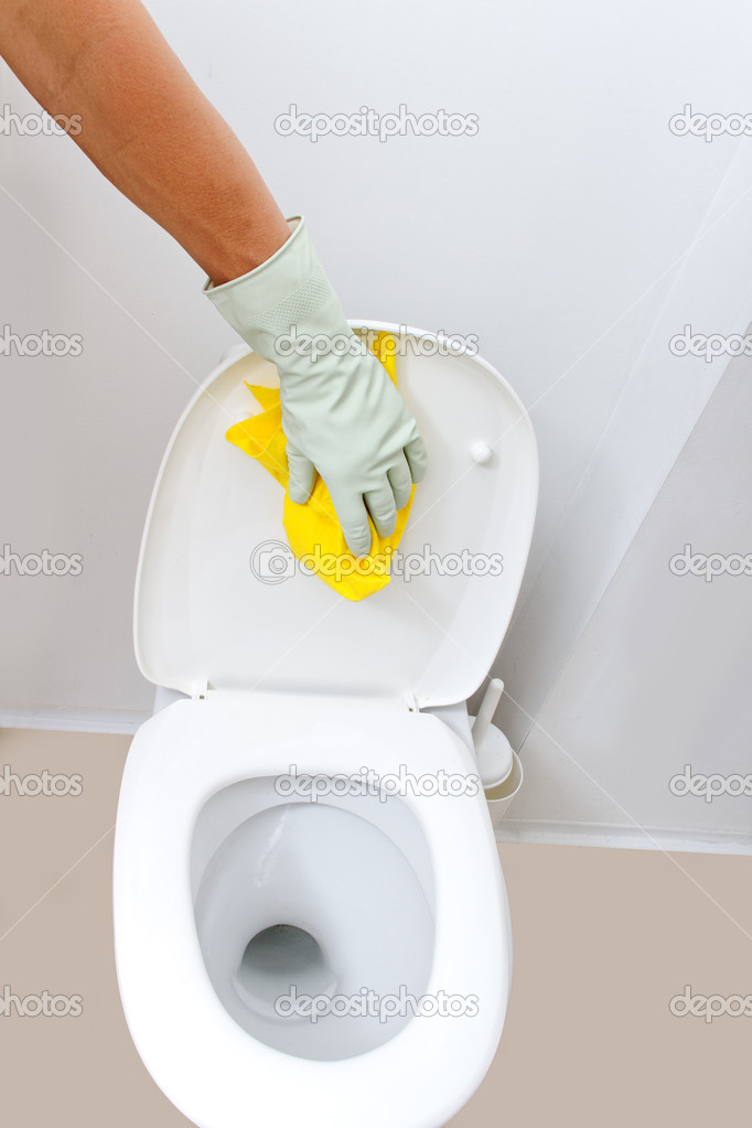 Hand cleaning WC. — Stock Photo #7089357