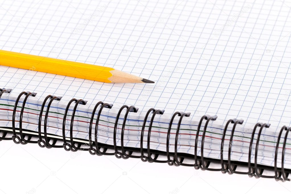 Pencil on notebook. — Stock Photo #7089361