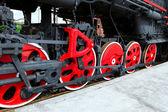 Locomotive`s wheels. — Стоковое фото
