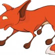 Red fox . Cartoon - Stock Vector