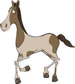 Paard. cartoon — Stockvector