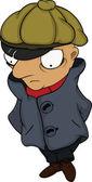 The detective. Cartoon — Stock Vector