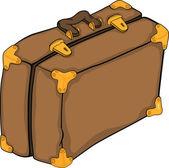 Old suitcase.Cartoon — Stock Vector