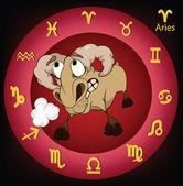 Signos do zodíaco. áries. desenhos animados — Vetor de Stock