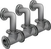 Su, kanalizasyon boruları — Stok Vektör