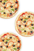 Three pizza — Stock Photo