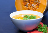 Pumpkins vegetarian soup — Stock Photo