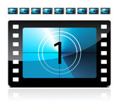 Film countdown from 1 to 9 — Stockvector