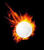 Golf ball on fire — Stock Vector