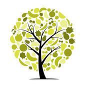 Drzewo owocowe energii do projektowania — Wektor stockowy