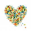 Abstract heart shape for your design — Stock Vector