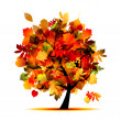 Beautiful autumn tree for your design — Stock Vector #7208041
