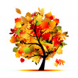 Beautiful autumn tree for your design — Stock Vector #7208046