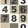 Numbers made from photo frames, insert your photos — Stock Vector