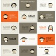 Set of business cards with faces for your design — Stock Vector #7327760