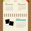 Royalty-Free Stock Vector Image: Vector calendar 2012, august.