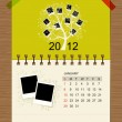 Vector calendar 2012, january. — Stock Vector