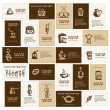 Vector de stock : Design of business cards for coffee company