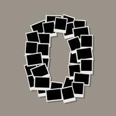 Número zero feita de molduras, inserir suas fotos — Vetorial Stock