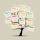 Pro váš návrh strom kalendáře 2012 — Stock vektor