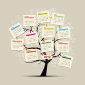 árbol de calendario 2012 para su diseño — Vector de stock