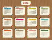 Vector calendar 2012 for your design — Stock Vector