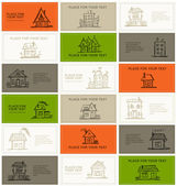 Business cards with houses for your design — Stock Vector