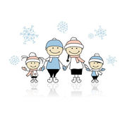 Szczęśliwy uśmiechający się razem, boże narodzenie wakacje z rodziną — Wektor stockowy