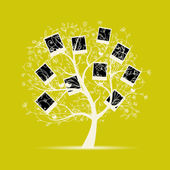 Family tree design, insert your photos into frames — Stock Vector