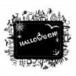 Halloween frame for your design — Stok Vektör
