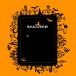 Stock Vector: Halloween frame for your design