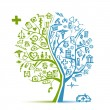 Medical tree concept for your design — Imagen vectorial
