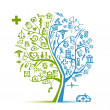 Medical tree concept for your design - Image vectorielle