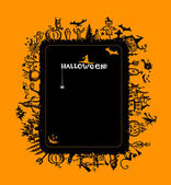 Halloween frame for your design — Stock Vector