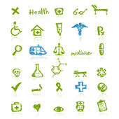 Medical icons for your design — Stock Vector
