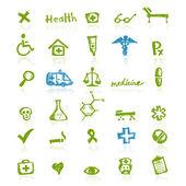Medicinsk ikoner för din design — Stockvektor