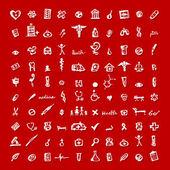 Iconos de médicos para su diseño — Vector de stock