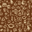 Vector de stock : Coffee time, seamless background for your design