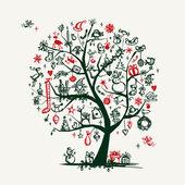 Desenho de árvore de natal para seu projeto — Vetorial Stock