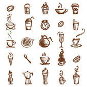 Coffee sketch, design elements — Stock Vector