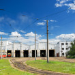 Tram depot — Stock Photo #7377525